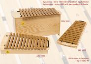 Studio 49 Sopran-Xylophon, Tonumfang c2 - a3, inkl. Schlägel