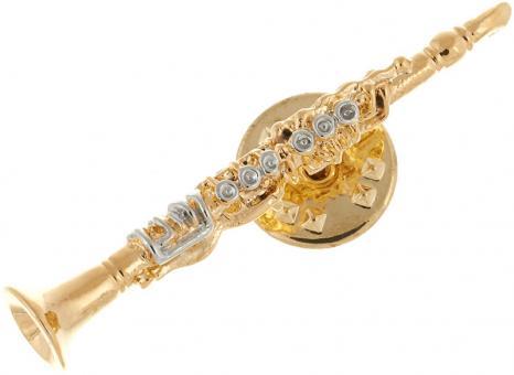 Anstecker gold - Klarinette