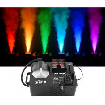 Vermietung Licht - Nebel, Chauvet Geyser RGB Nebelmaschine, vertikal, LED-Licht