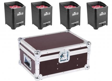 Vermietung Licht - Ambient Light Aku Par Quad 4 IPB, schwarz 4er Set