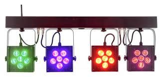 Vermietung Licht - Scheinwerfer 4fach Alubar  mit LED Par 64