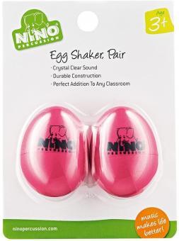 Nino Egg-Shaker,  2er Pack, rosa