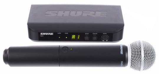 Shure Funkmikrofon - BLX24E/SM58 S8, 823-832MHz