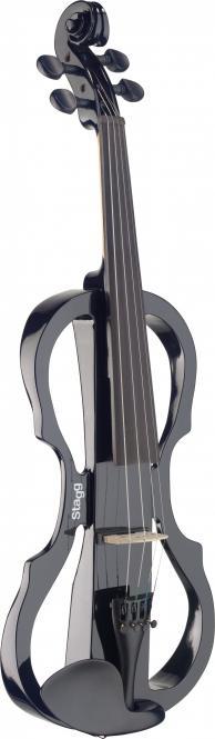 Stagg E-Geige mit Vorverstärker, schwarz